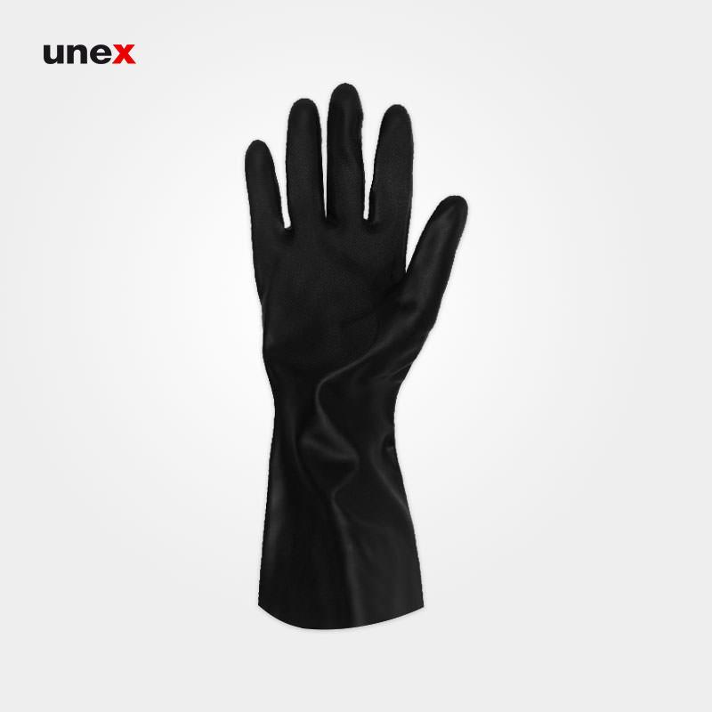 دستکش نیتریلی ۴۱۵ ساق کوتاه، ماپا - MAPA، دستکش نیتریلی، مشکی، سایز ۹ و ۱۰