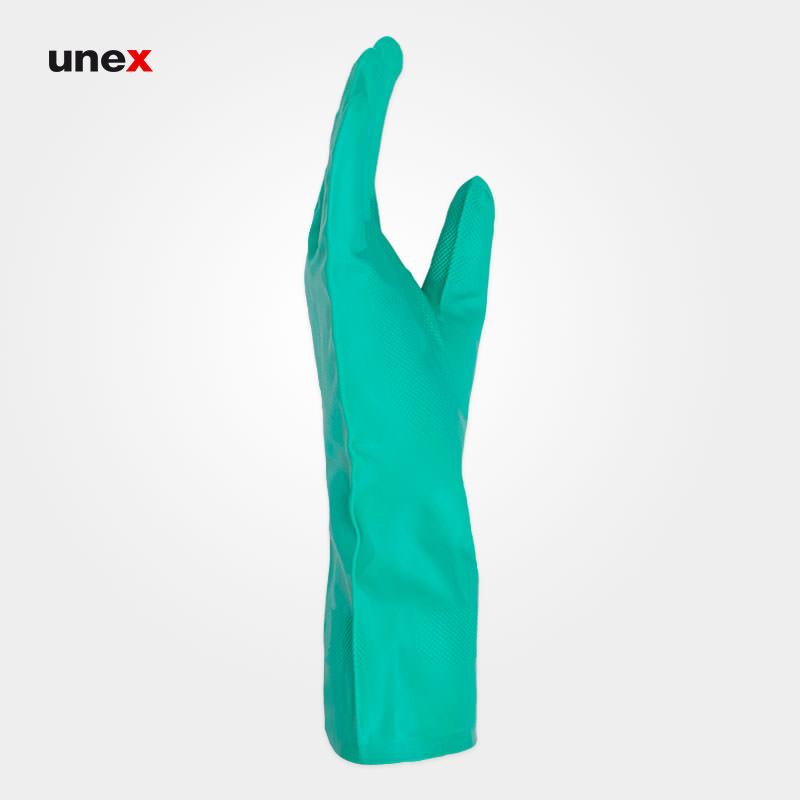 دستکش نیتریلی ۴۹۱ ساق بلند، ماپا - MAPA، دستکش نیتریلی، سبز، سایز۸ تا ۱۰