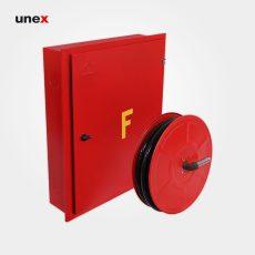 جعبه آتش نشانی تو کار معمولی با قرقره، ۶۰*۷۵ سانتی متر، ابزار ایمنی شهپر، قرمز، ایرانی