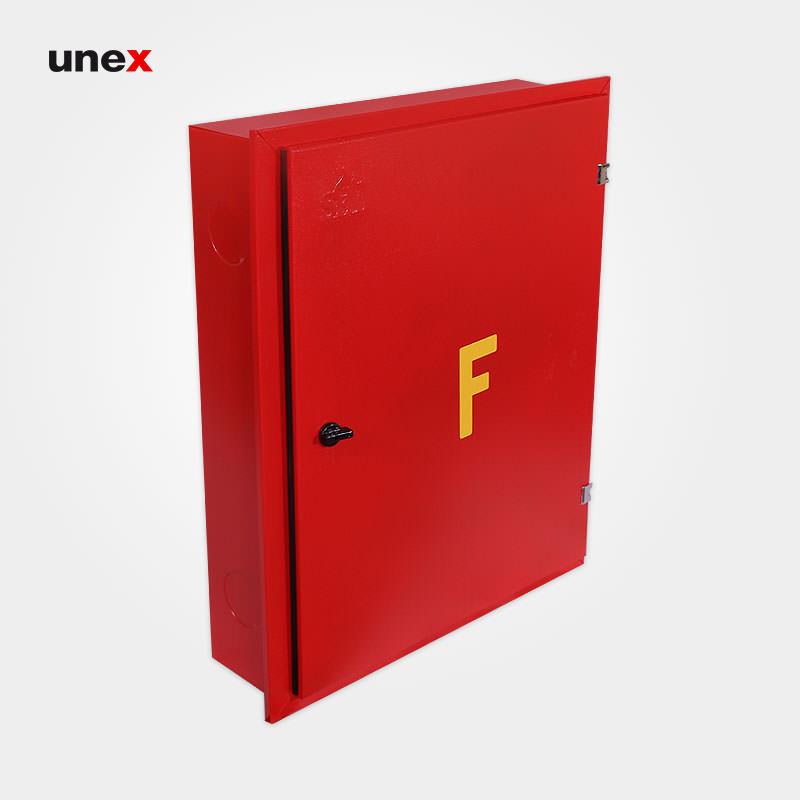 جعبه آتش نشانی تو کار هوز ریلی با متعلقات، ۶۰*۷۵ سانتی متر، ابزار ایمنی شهپر، جعبه، قرمز، ایرانی