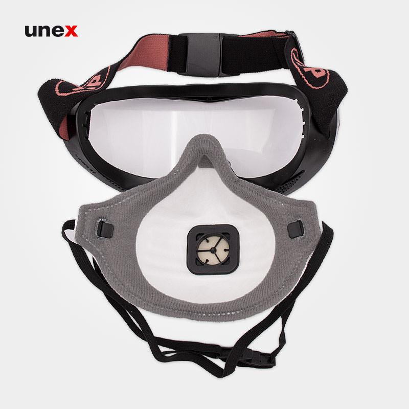 عینک ماسک گاگل COMBO FMP2، جی اس پی - JSP، ماسک های نیم صورت، مشکی
