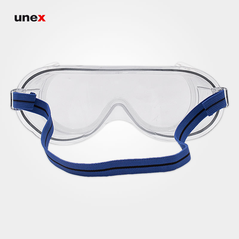 عینک گاگل سوپاپ دار، آتلانتیک - ATLANTIC، جی اس پی - JSP، عینک طلقی کش دار، بی رنگ