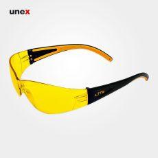 عینک ایمنی کاناسیف LITE زرد