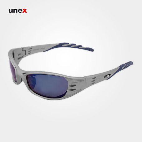 عینک ایمنی فیول - FUEL، ای او - AO، عینک فریم دار، نقره ای - آبی