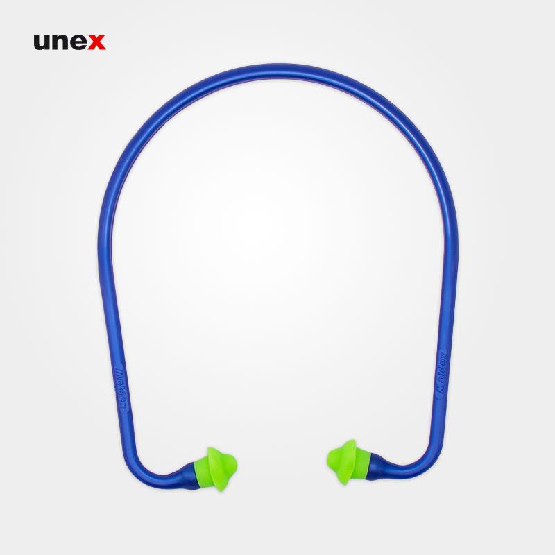 صدا گیر تل دار ۶۶۰۰، مولدکس – MOLDEX،گوشی ایمنی داخل گوش، آبی – سبز، آلمانی