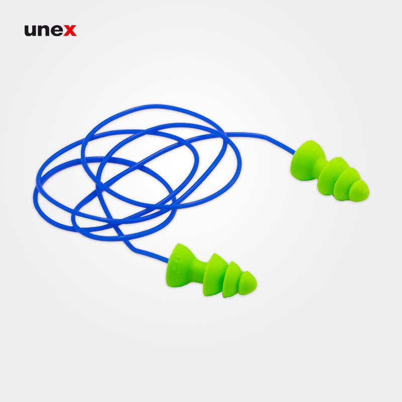 صدا گیر ۳ پله، مولدکس – MOLDEX،گوشی ایمنی داخل گوش، سبز، آلمانی