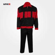 لباس کار یونکس آلفا مشکی قرمز