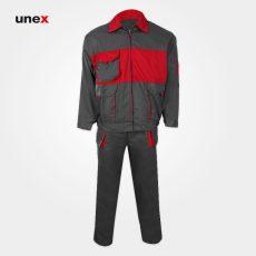 لباس کار یونکس واگن طوسی قرمز