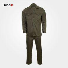 لباس شلوار یونکس سربازی ناجا سبز زیتونی