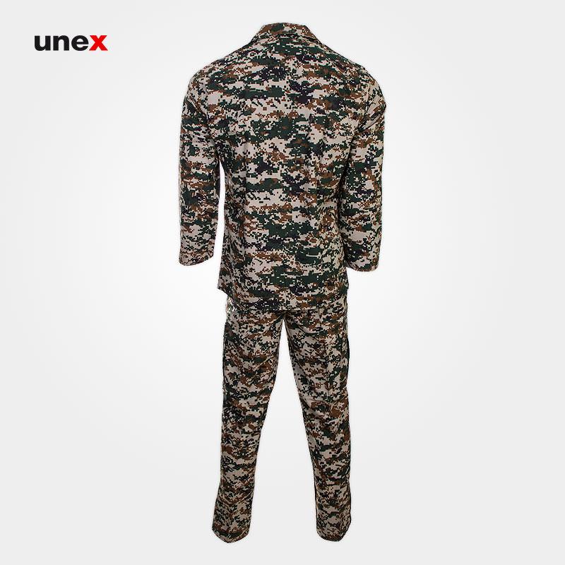 لباس شلوار کامپیوتری نیروهای بسیج، ابزار ایمنی شهپر،لباس سپاه پاسداران، سبز، ایرانی