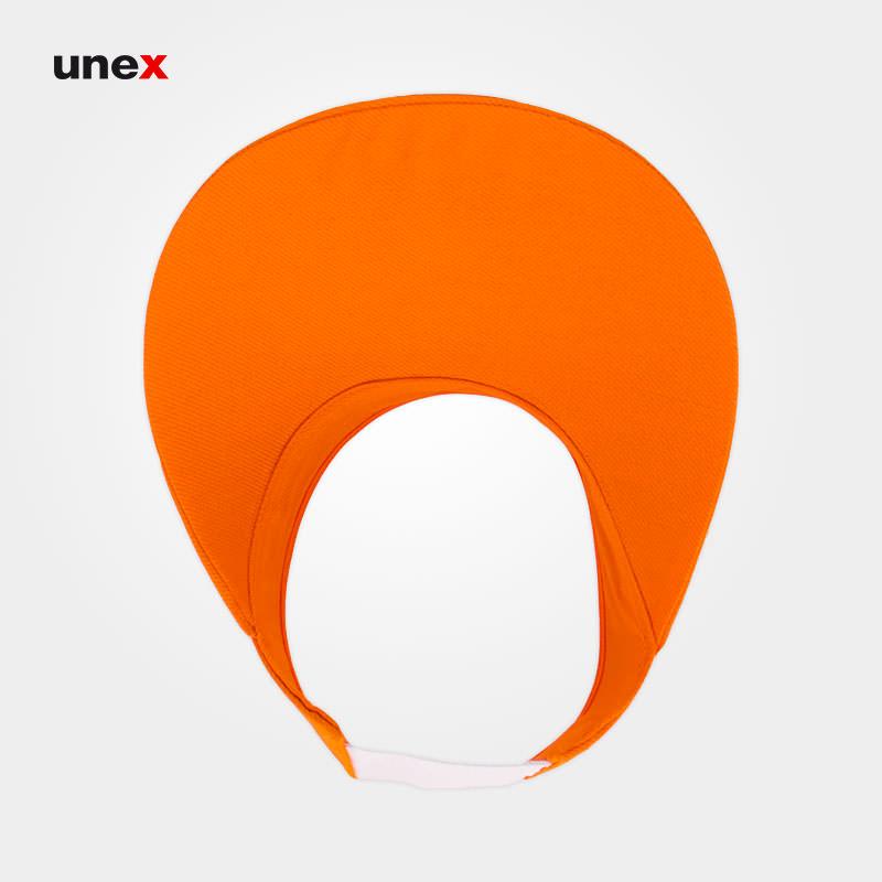 کلاه لبه دار، ابزار ایمنی شهپر، کلاه نقاب دار، نارنجی، ایرانی