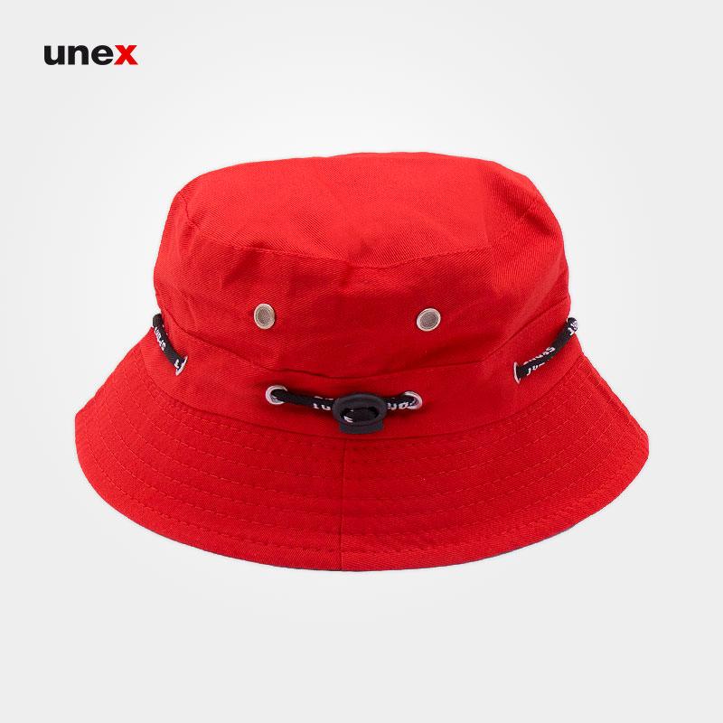 کلاه ماهیگیری، ابزار ایمنی شهپر، کلاه لبه دار، قرمز - کرم، ایرانی