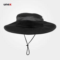 کلاه لبه دار، ابزار ایمنی شهپر، کلاه نقاب دار، مشکی، ایرانی