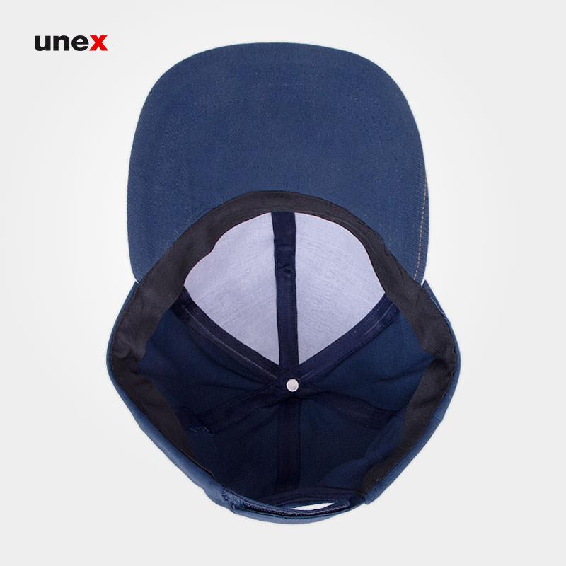 کلاه کتان مغزی دار، ابزار ایمنی شهپر، کلاه لبه دار، رنگ یشمی و سرمه ای، ایرانی