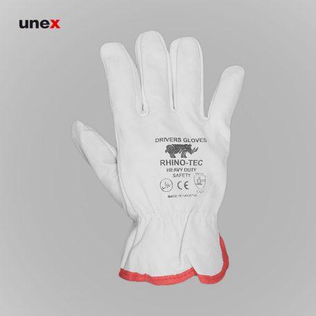 دستکش آرگون ساق کوتاه، رینوتک - RHINOTEC، دستکش چرمی، سفید، پاکستانی