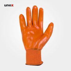 دستکش ژله ای ضد برش، بامینو سیفتی – BOMINO SAFETY، دستکش ضد برش، نارنجی، ایرانی