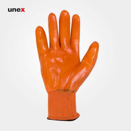 دستکش ژله ای ضد برش، بامینو سیفتی - BOMINO SAFETY، دستکش ضد برش، نارنجی، ایرانی