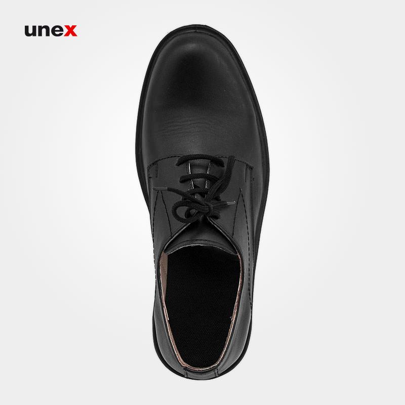 کفش اداری چرمی بندی، ال اف اس - LFS، کفش اداری، مشکی، سایز ۴۰ تا ۴۵، ایرانی
