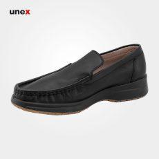 کفش اداری بدون بند چرمی، ال اف اس – LFS، کفش اداری، مشکی، سایز ۴۰ تا ۴۵، ایرانی
