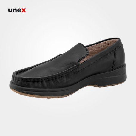 کفش اداری بدون بند چرمی، ال اف اس - LFS، کفش اداری، مشکی، سایز ۴۰ تا ۴۵، ایرانی