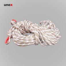 طناب نیمه استاتیک گیلمونت ۳۰ متری، ابزار ایمنی شهپر، طناب ابریشمی، سفید، ایرانی
