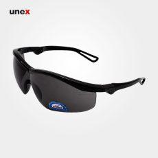 عینک ایمنی UD131، ولتکس – VAULTEX، عینک فریم دار، لنز مشکی و سفید، ایرانی
