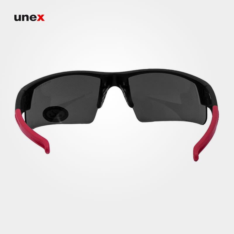 عینک ایمنی UD12، ولتکس - VAULTEX، عینک فریم دار، لنز مشکی و سفید، ایرانی
