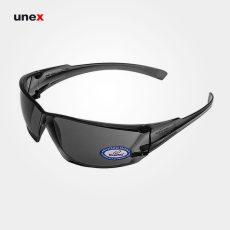 عینک ایمنی UD221، ولتکس – VAULTEX، عینک فریم دار، لنز مشکی و سفید، ایرانی