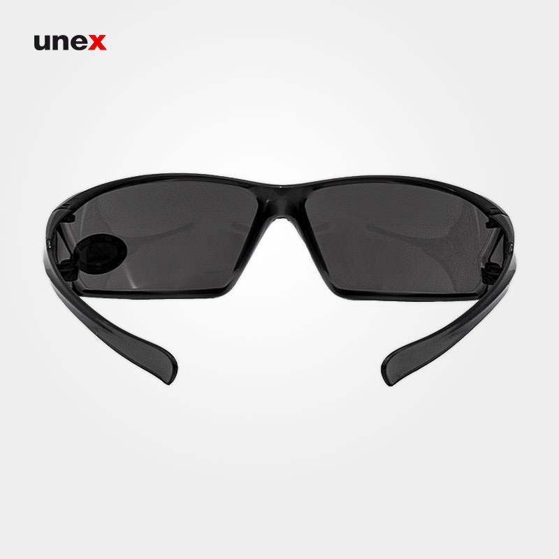 عینک ایمنی UD221، ولتکس - VAULTEX، عینک فریم دار، لنز مشکی و سفید، ایرانی