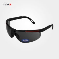 عینک ایمنی UD89، ولتکس – VAULTEX، عینک فریم دار، لنز مشکی و سفید، ایرانی