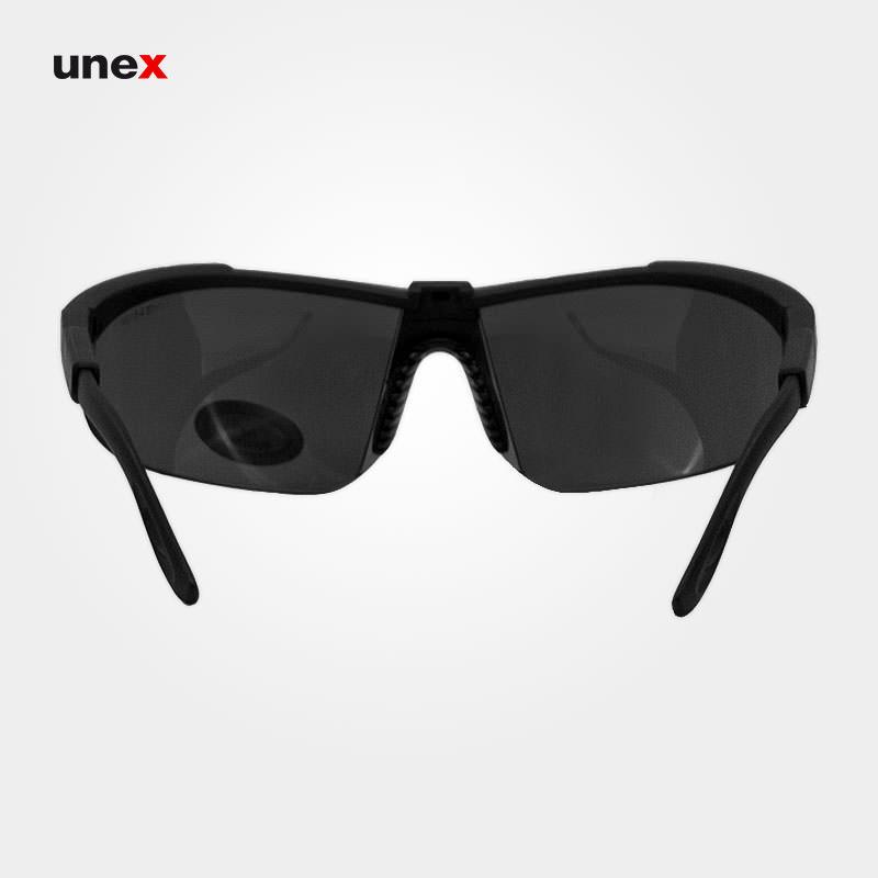 عینک ایمنی UD89، ولتکس - VAULTEX، عینک فریم دار، لنز مشکی و سفید، ایرانی