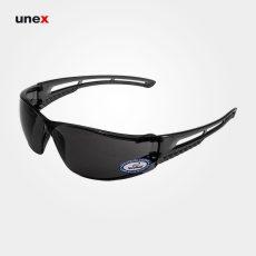 عینک ایمنی UD171، ولتکس – VAULTEX، عینک فریم دار، لنز مشکی و سفید، ایرانی