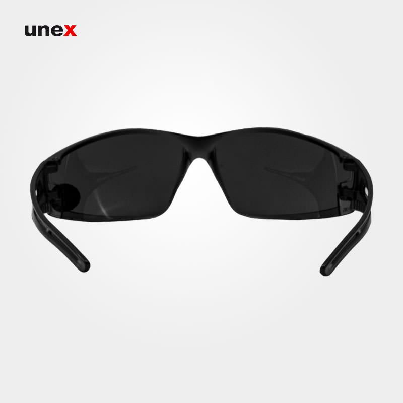 عینک ایمنی UD171، ولتکس - VAULTEX، عینک فریم دار، لنز مشکی و سفید، ایرانی
