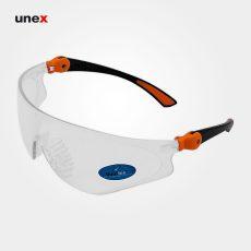 عینک ایمنی UD29، ولتکس – VAULTEX، عینک فریم دار، لنز مشکی و سفید، ایرانی