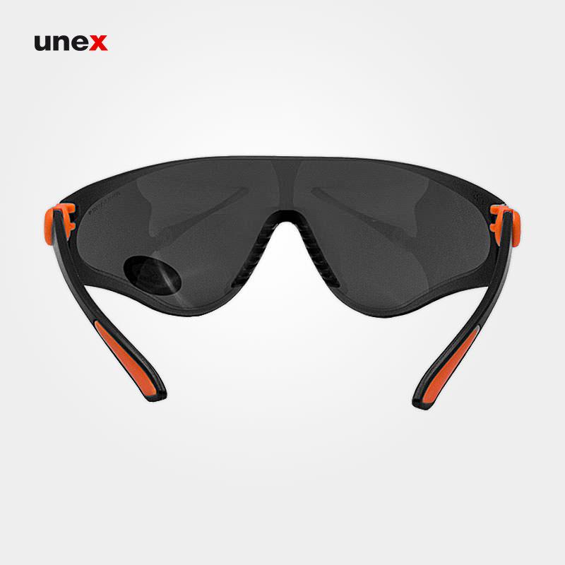 عینک ایمنی UD29، ولتکس - VAULTEX، عینک فریم دار، لنز مشکی و سفید، ایرانی