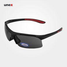 عینک ایمنی UD109، ولتکس – VAULTEX، عینک فریم دار، لنز مشکی و سفید، ایرانی