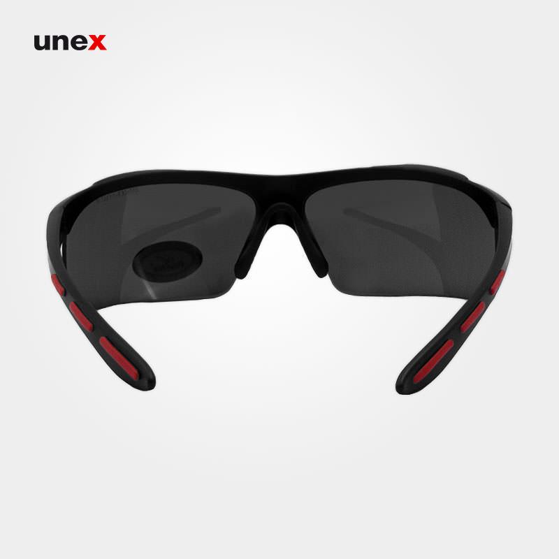 عینک ایمنی UD109، ولتکس - VAULTEX، عینک فریم دار، لنز مشکی و سفید، ایرانی
