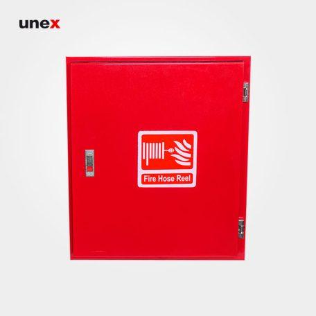 جعبه آتش نشانی ۶۰*۵۰ سانتی متر، قفل پرشی ، ابزار ایمنی شهپر، جعبه، رنگ قرمز و سفید، ایرانی