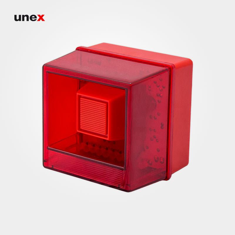 آژیر فلاشر زنون ۲۲۰ ولت AVX، آریاک – ARIAK، آژیر سیستم اعلام حریق، قرمز، ایرانی