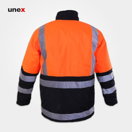 اورکت عملیاتی طرح راهداری، ابزار ایمنی شهپر، لباس کار صنعتی، نارنجی مشکی، ایرانی