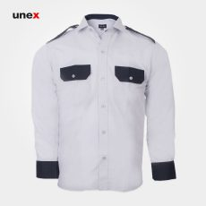 پیراهن کار، ابزار ایمنی شهپر، لباس کار صنعتی، رنگ طوسی، ایرانی