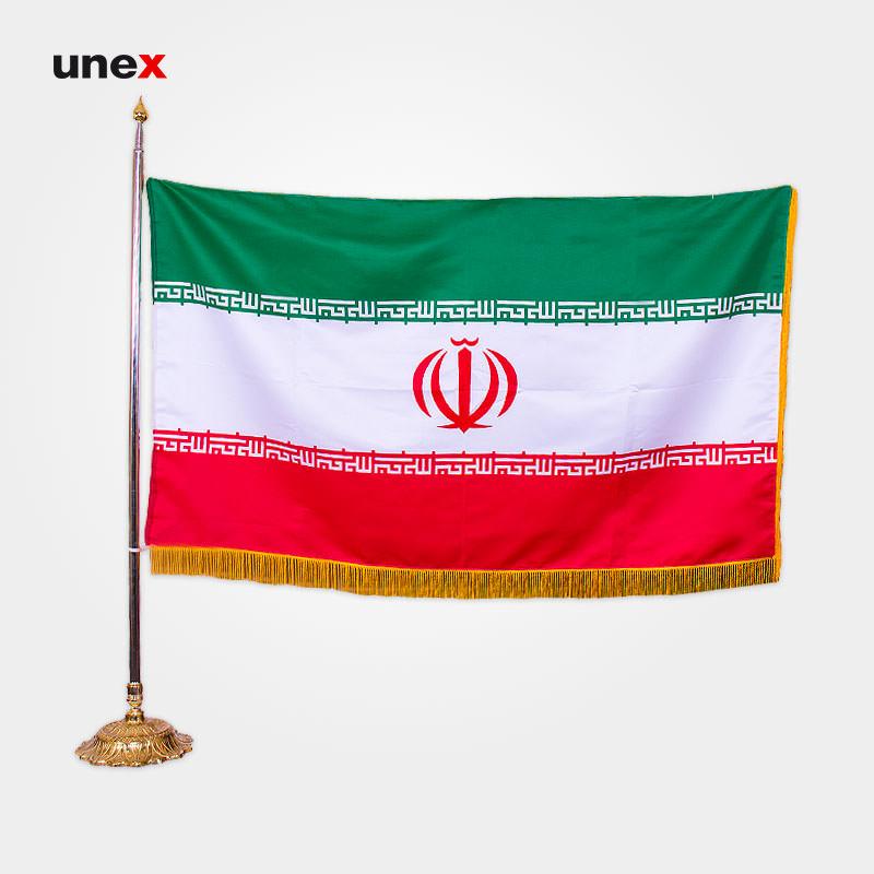 پرچم بلند گلدوزی ایران، ۱/۵*۹۰ سانتی متر، ابزار ایمنی شهپر، ،تایوانی