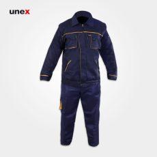 لباس کار یونکس مهندسی جلیقه دار سرمه ای
