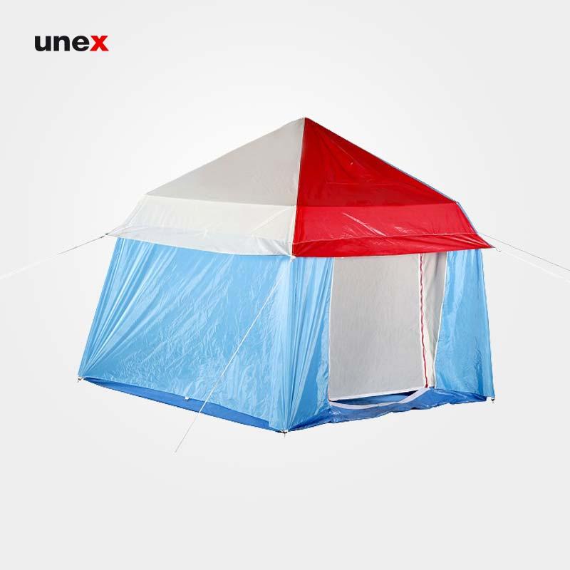 چادر اقلیمی ۶ ضلعی، هلال، چادر مسافرتی، آبی-قرمز، ایرانی