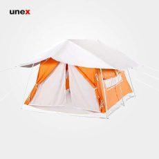 چادر پیک نیک، هلال، چادر مسافرتی، نارنجی-سفید، ابعاد ۱/۸*۳*۲، ایرانی
