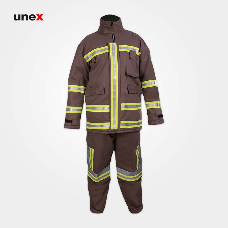 لباس کار عملیاتی آتش نشانی, ابزار ایمنی شهپر، لباس عملیاتی مبارزه با حریق، خاکی، ایرانی