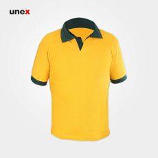 تی شرت یونکس دورنگ زرد سبز