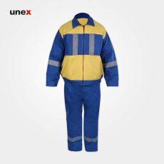 لباس کار یونکس شهرداری آبی زرد
