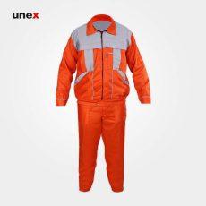 لباس کار یونکس آلفا استخوانی نارنجی