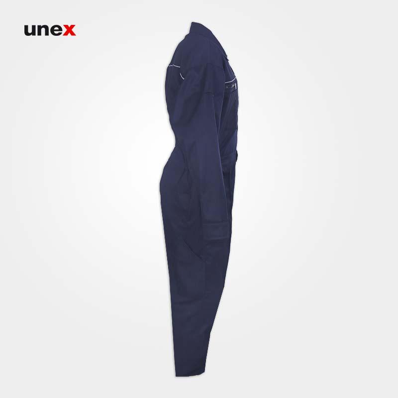 لباس کار یکسره کتان، ابزار ایمنی شهپر، لباس کار صنعتی، سرمه ای، ایرانی